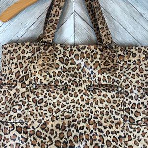 Neiman Marcus Bags - NWT Neiman Marcus Leopard Print Drawstring Tote